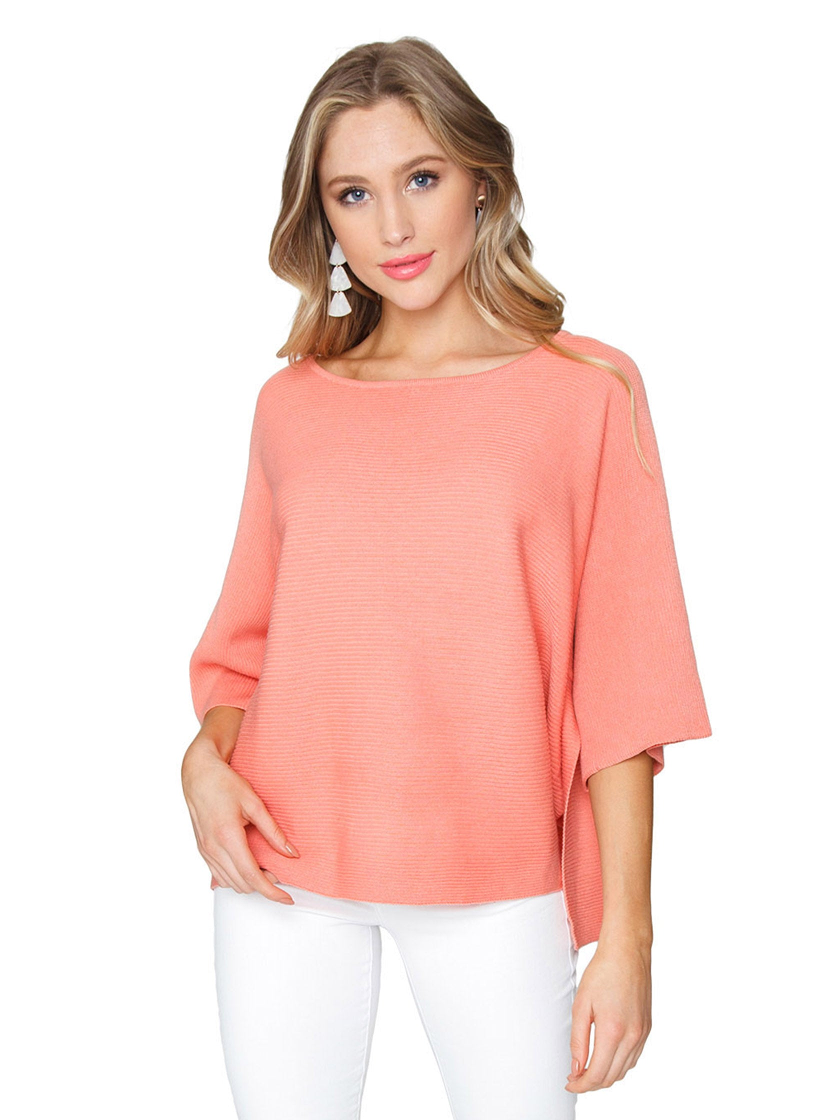 Woman wearing a top rental from FashionPass called Wide Sleeve Knit Top