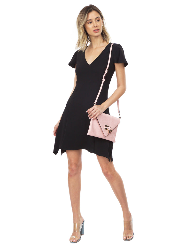 Women wearing a dress rental from Amanda Uprichard called Venus Mini Dress
