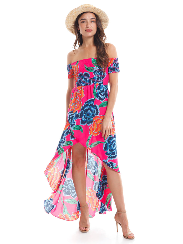 Women wearing a dress rental from Show Me Your Mumu called Willa Maxi Dress
