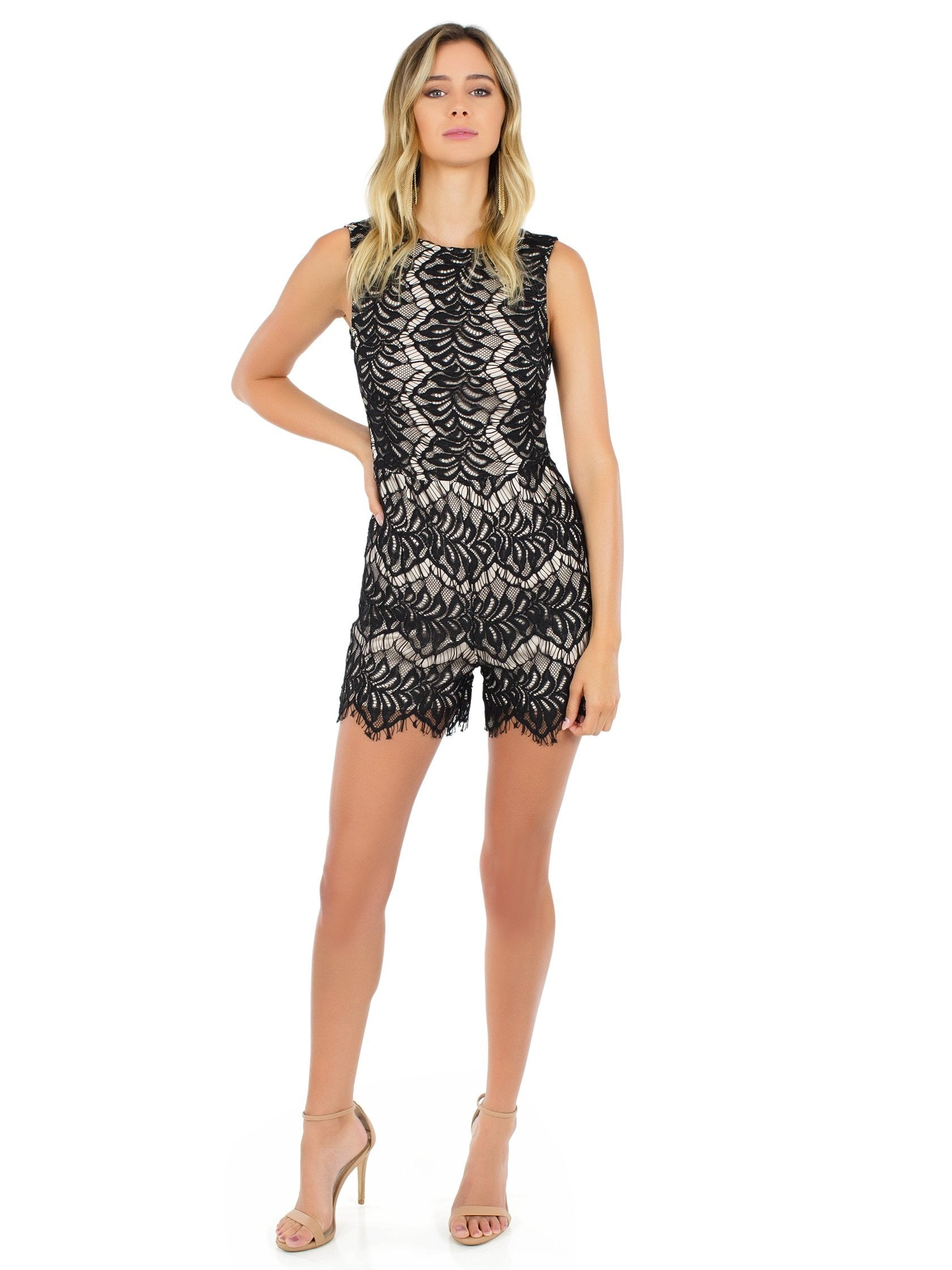 Girl outfit in a romper rental from WYLDR called Get Up Playsuit