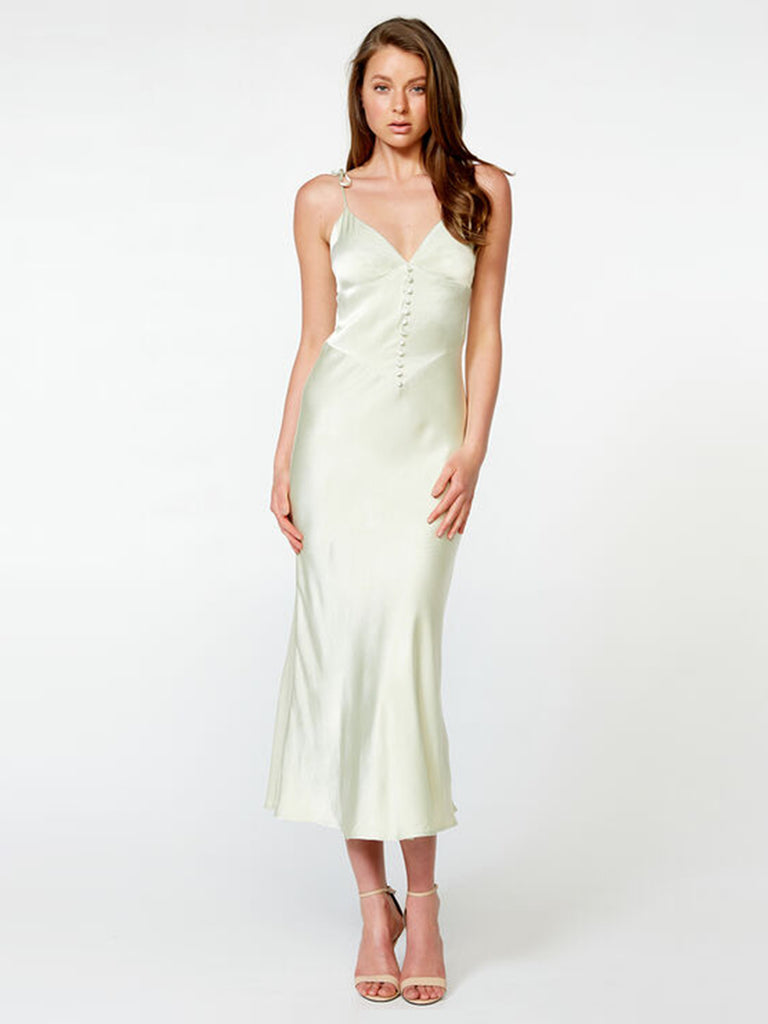 Women outfit in a dress rental from BARDOT called Adella Slip Dress
