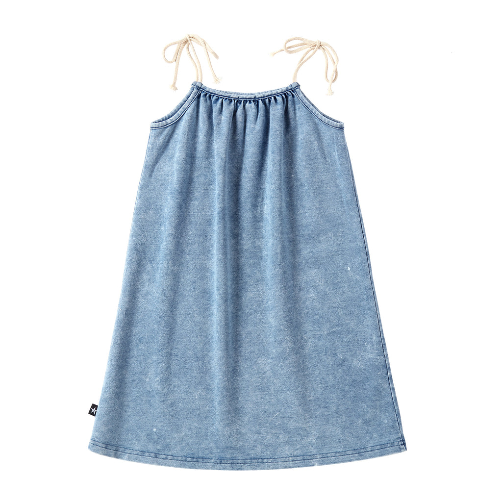 Girls Stretch Denim Rope Closure Jumper
