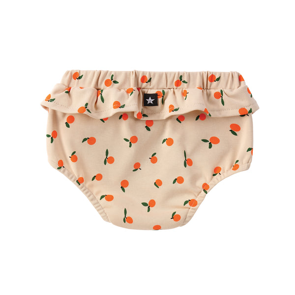 COMING SOON: Light Tan with Oranges Print Bloomer