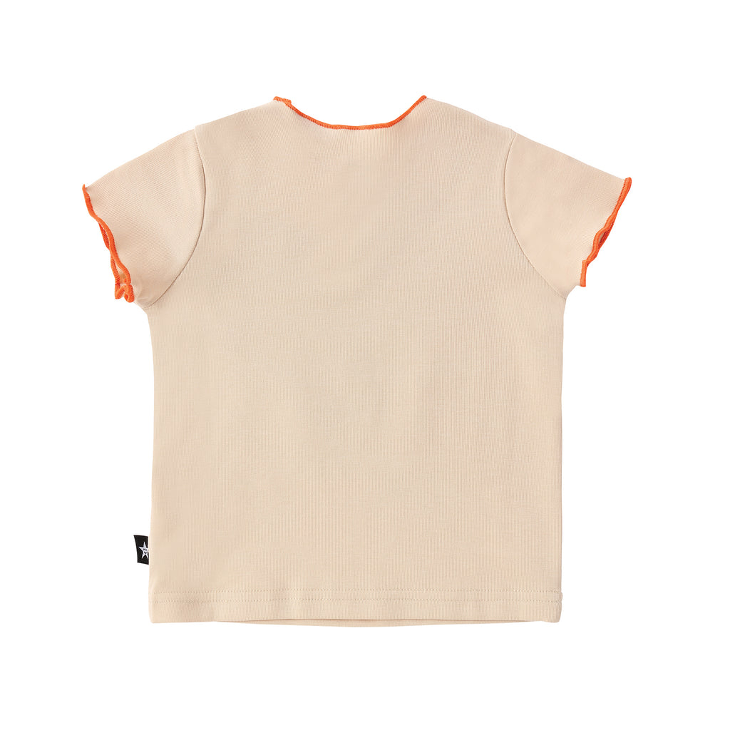 Baby Light Tan Tshirt with Orange Details