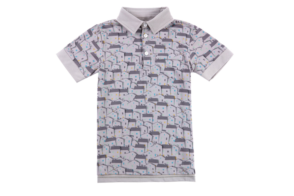 Calvin Boys Polo in House Print