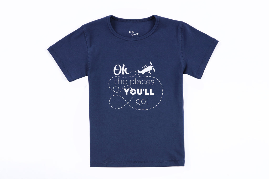 "Cole Boys Tee Shirt in ""The Places you'll Go"" Print"