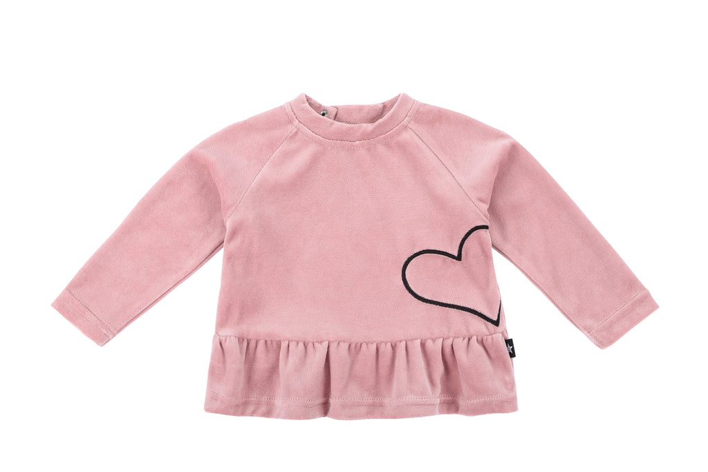 Baby Velour Sweatshirt set in Blush