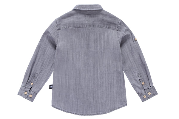 Boys' Shirt in Grey Denim