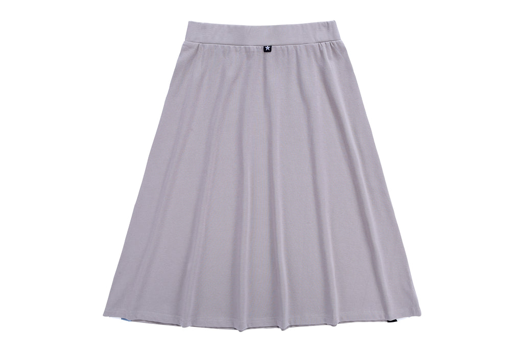 Girls' A-line Skirt in Taupe