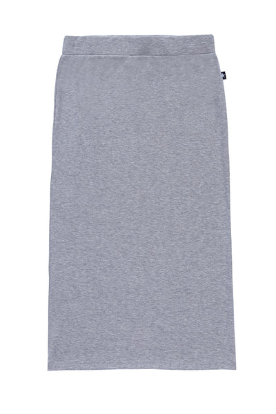 Teens' Midi Straight Skirt in Heather Grey