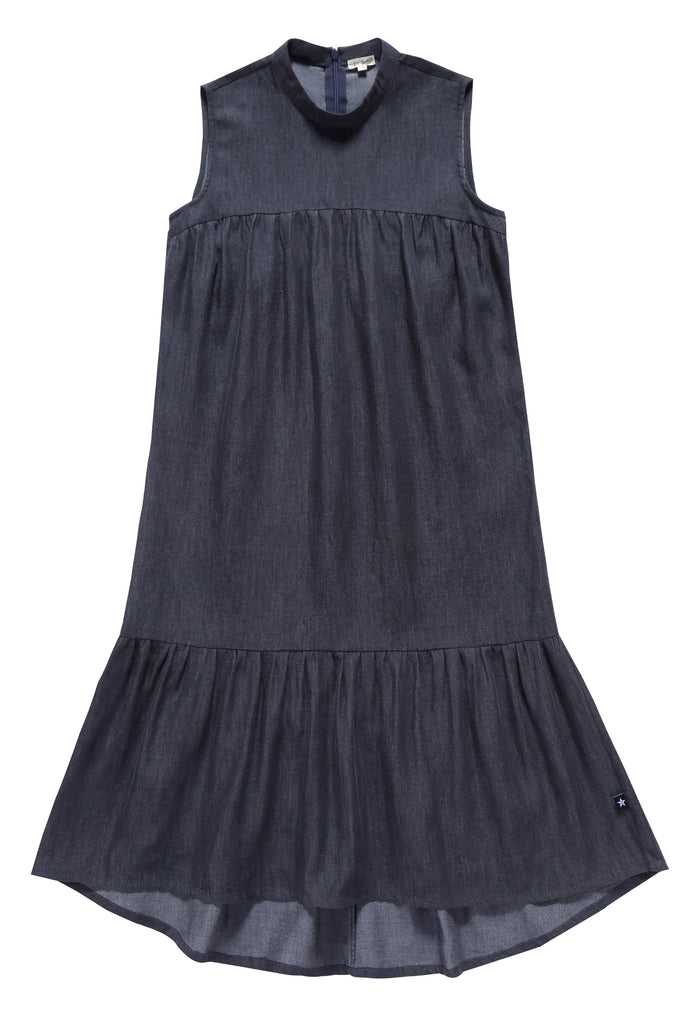 Teens' Maxi Charcoal Denim Dress
