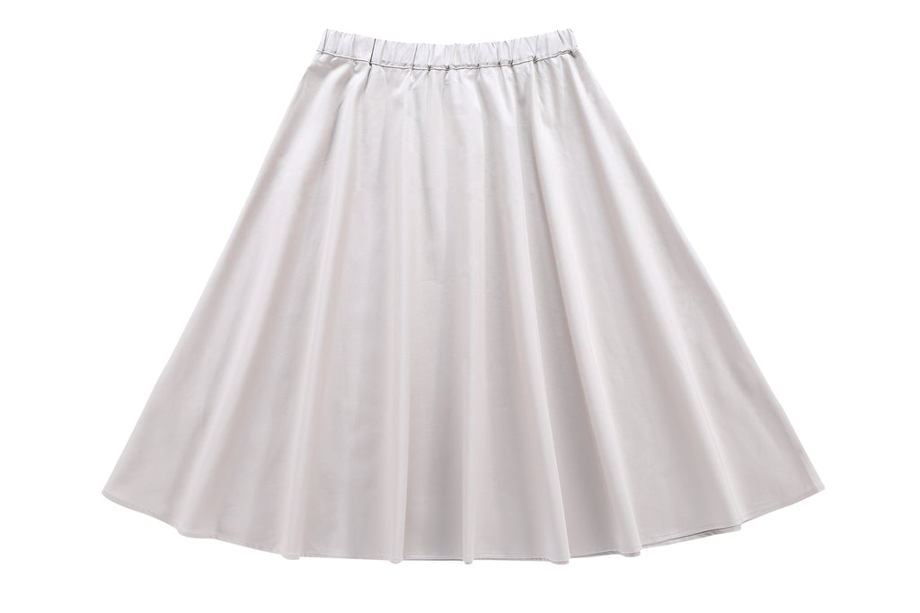 Girls'  Polished Cotton in Tan