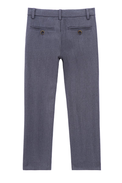 Boys Dress Pants in Medium Grey