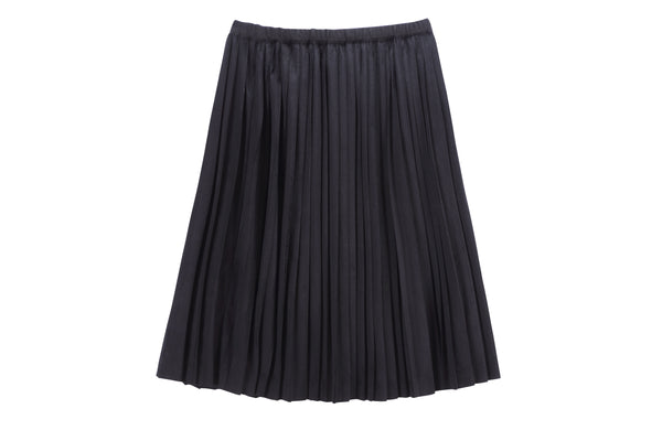 Girls Pleated Skirt in Navy