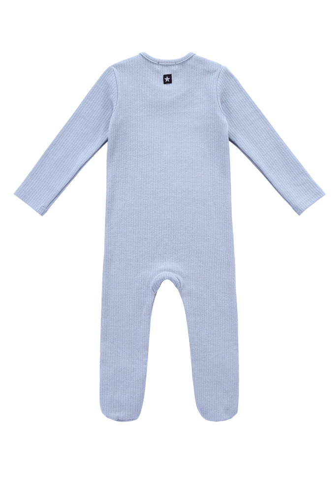 Baby Ribbed Onesie in Light Blue