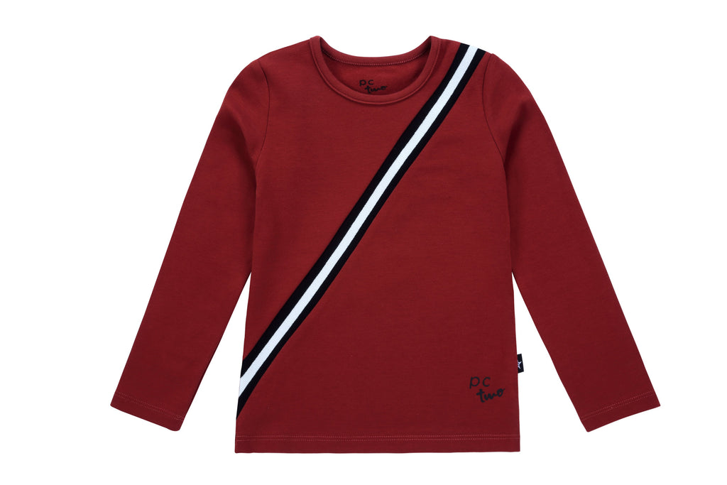 Girls Sport Stripe Tshirt