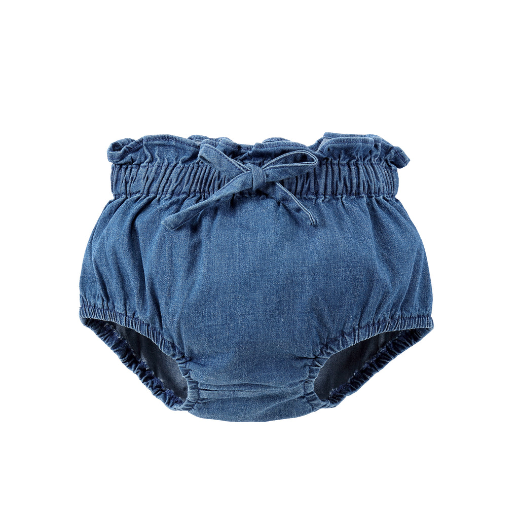 Blue Denim Bow Bloomer