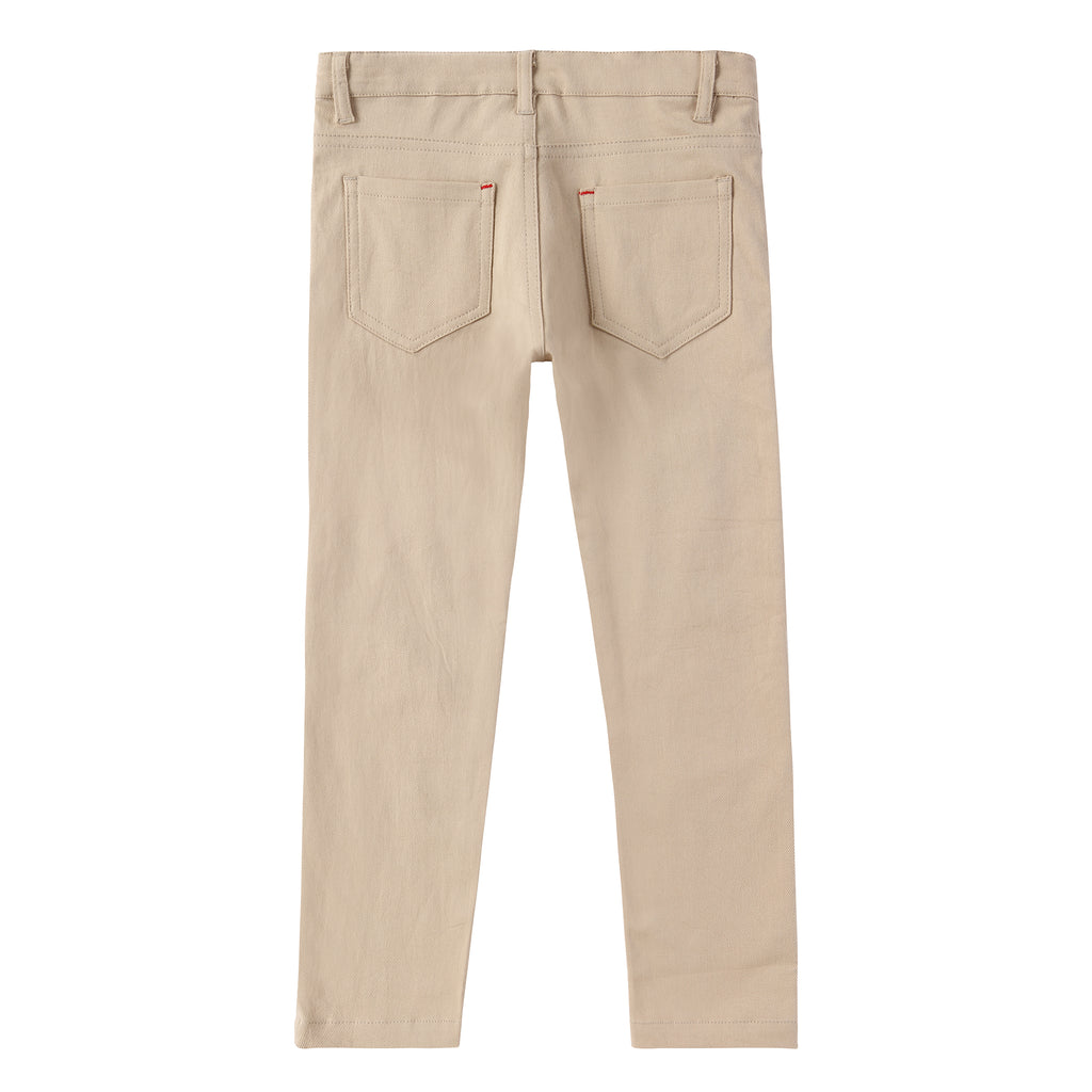 Boys Tan Cotton Pants