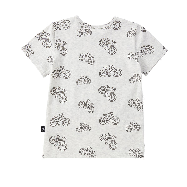 Baby Heather Grey Bike Print Tshirt