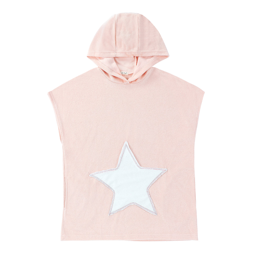 Pink Terry Poncho with Star Accent- COMING SOON
