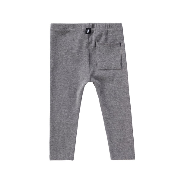 Back Pocket Leggings in Heather Grey