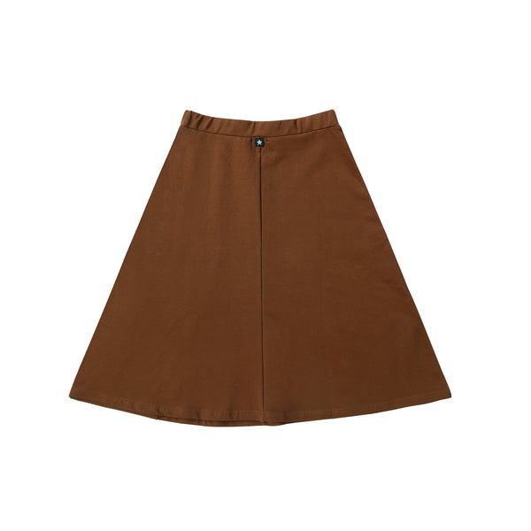 Basic Brown Skirt with Pockets