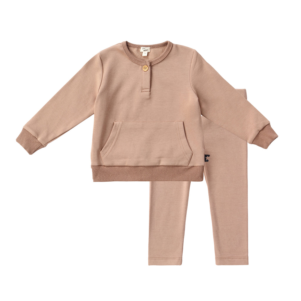 Baby Light Mocha Sweatshirt Set
