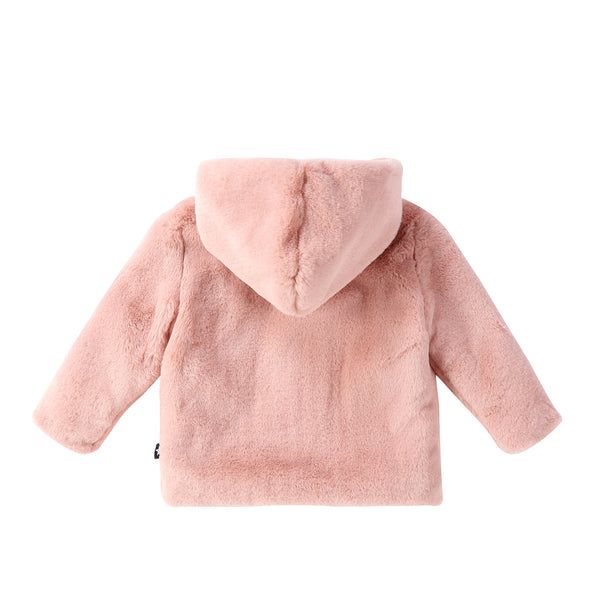 Baby fur Jacket in Muave