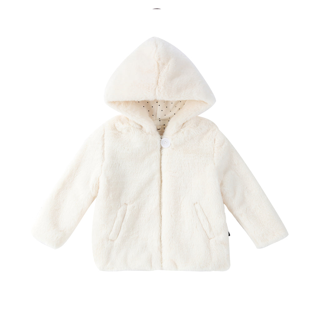 Baby fur Jacket in Ivory