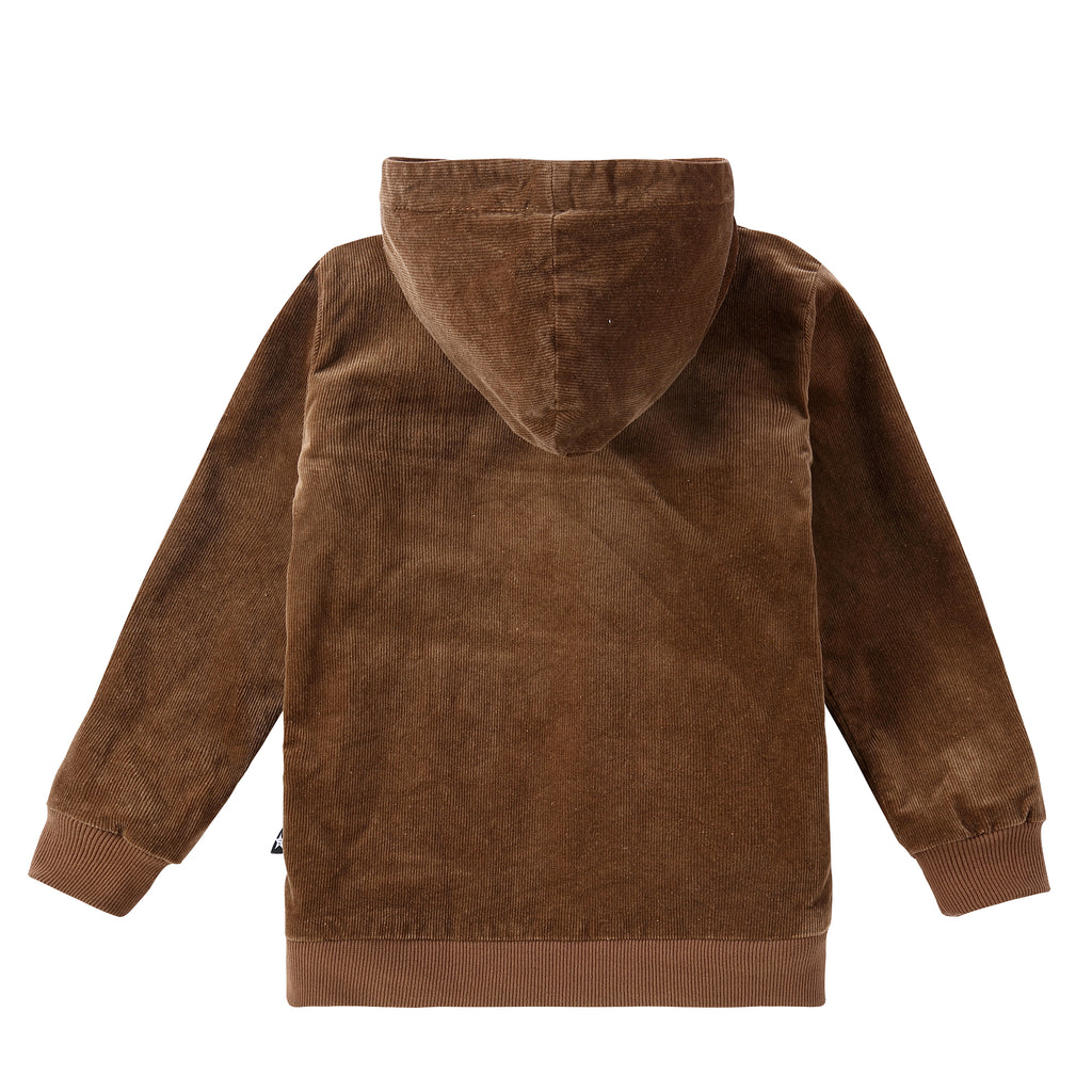 Brown Corduroy Zip Up Jacket with Sherpa Lining