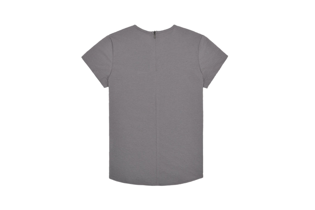 Boys' Grey Solid V-neck Shirt
