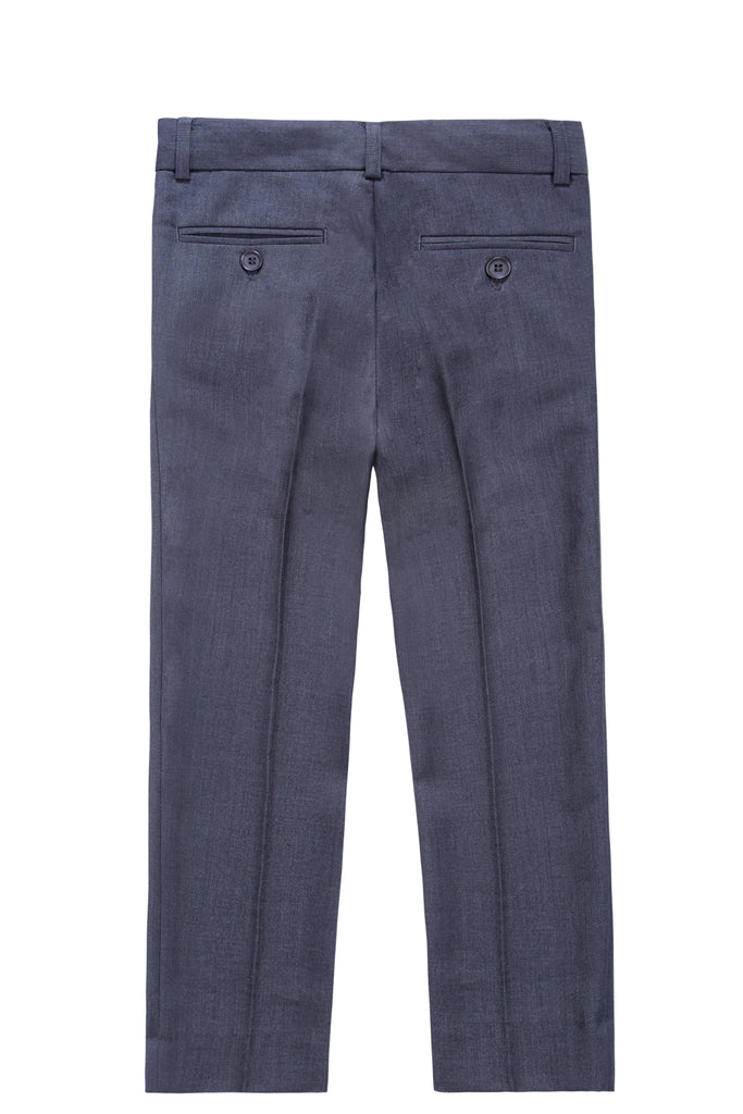 Boys Dress Pants in Dark Grey
