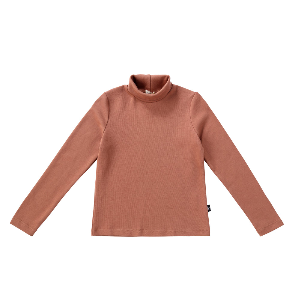 Girls Salmon Turtleneck