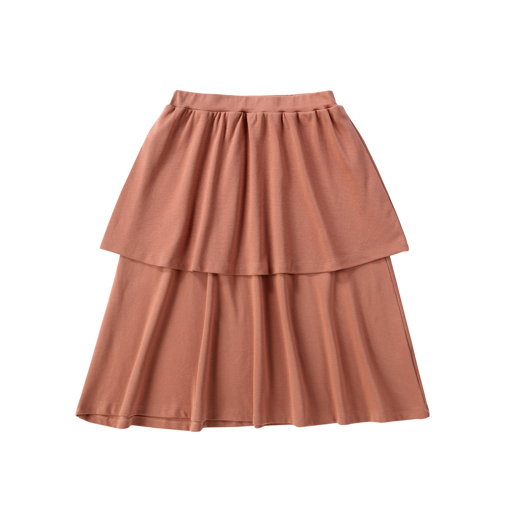 Teens Two Tiered Salmon Skirt