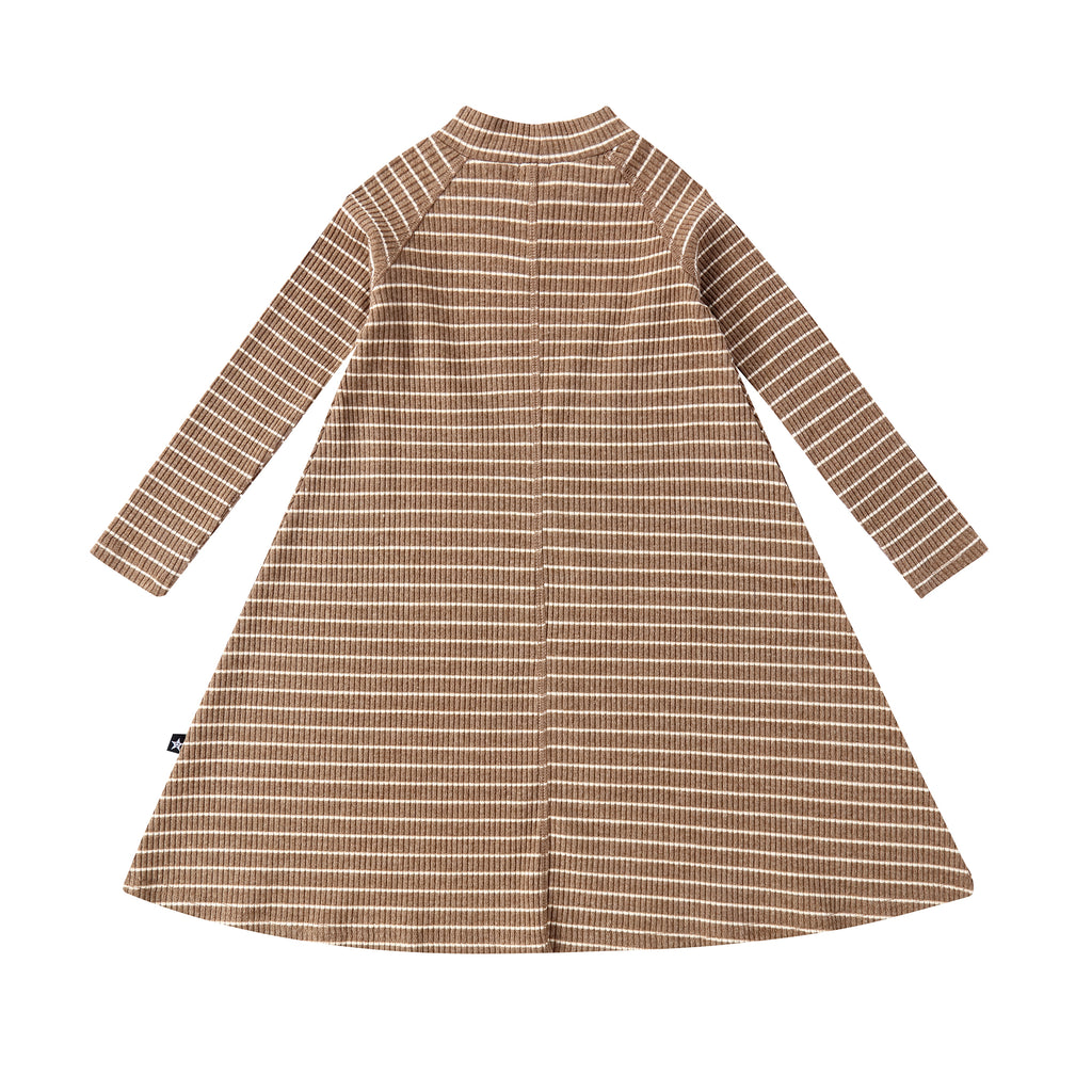 Girls Mocha Stripe Dress