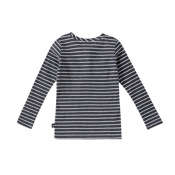 Boys Grey Stripe Henley