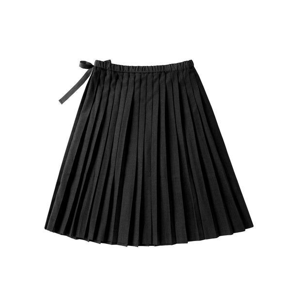Signature Black Pleated Skirt