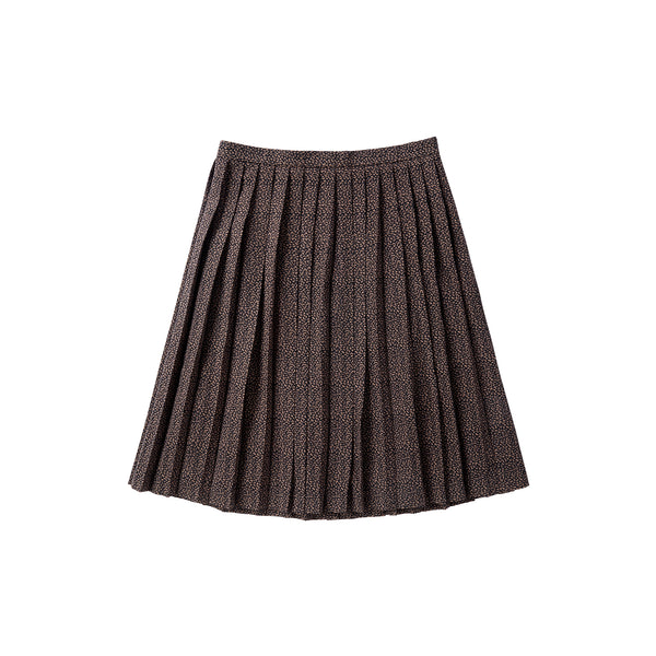 Teens Patterned Pleated Skirt
