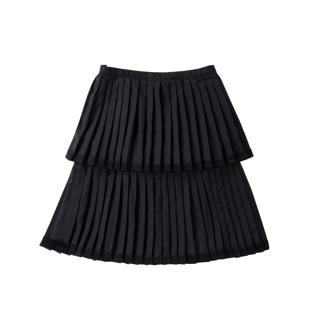 Teens Two-Tiered Skirt with Velvet Trim