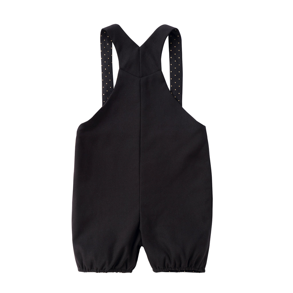 Baby Black Romper with Gold Lining