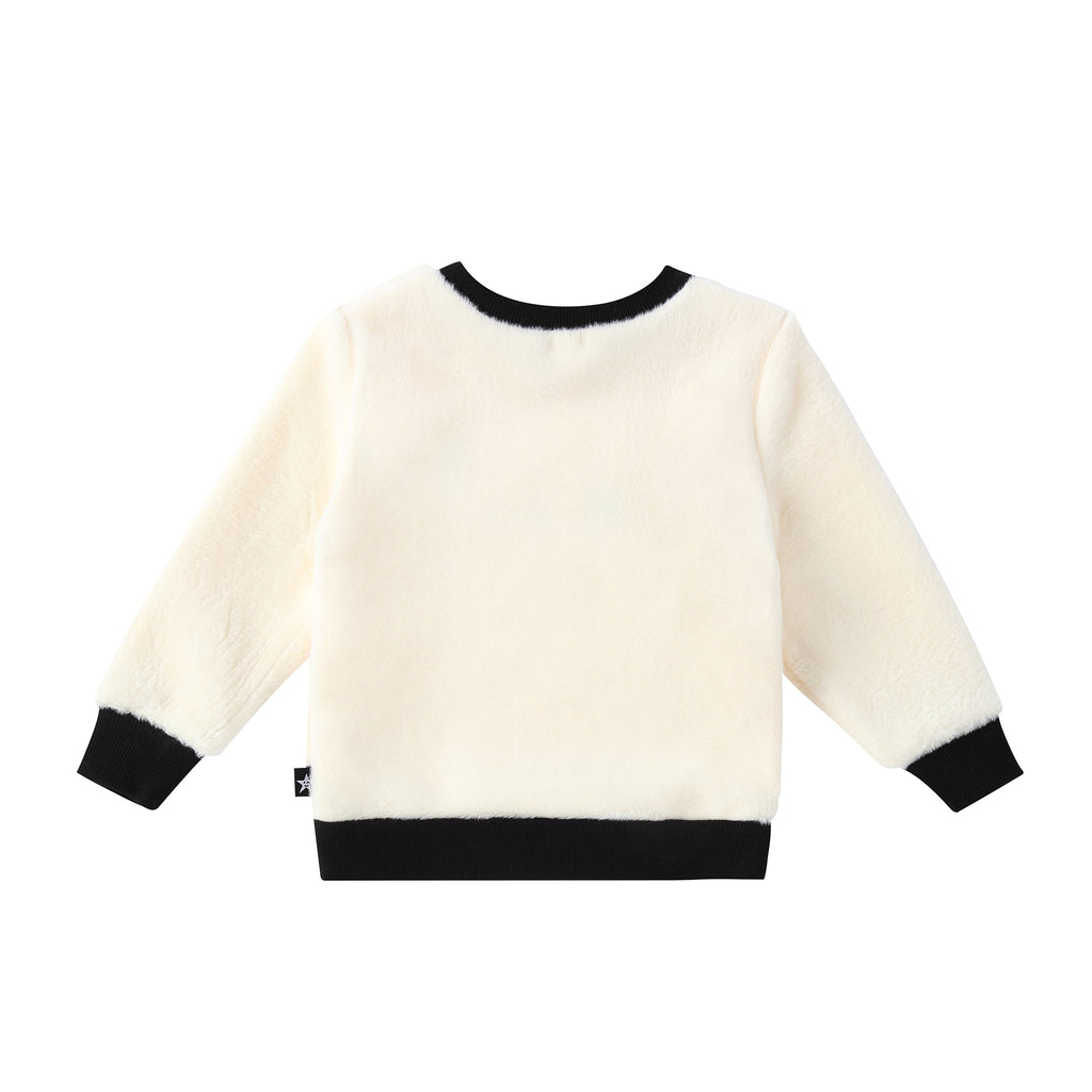 "Baby Girls ""Amour"" Fur Sweatshirt"