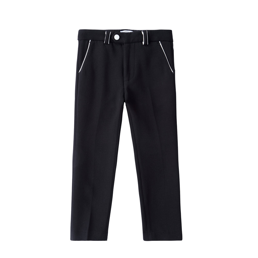 Boys Black and Ivory Pant (matches black and ivory blazer)