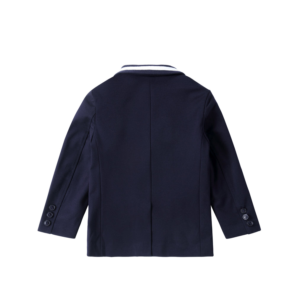 Boys Navy Stretch Blazer