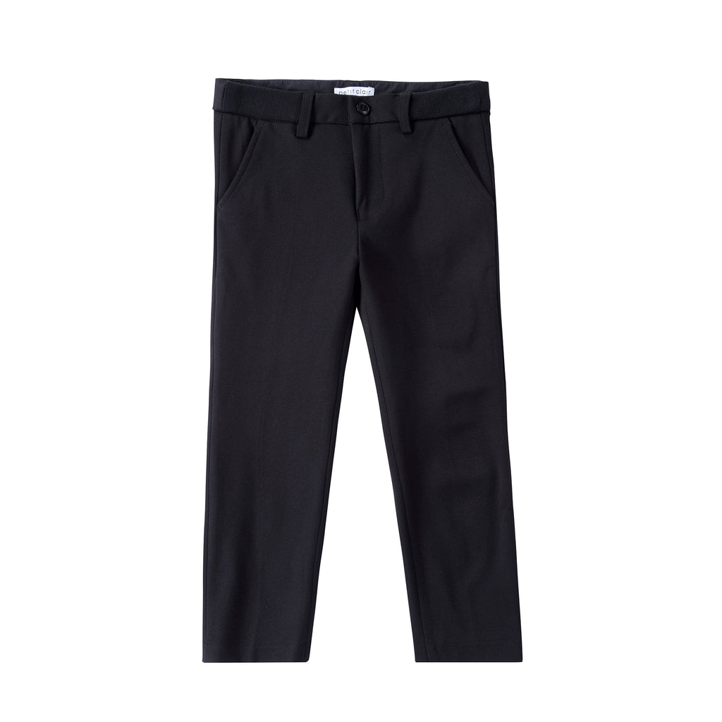 Boys Black Stretch Pants (Matches Black Stretch Blazer)