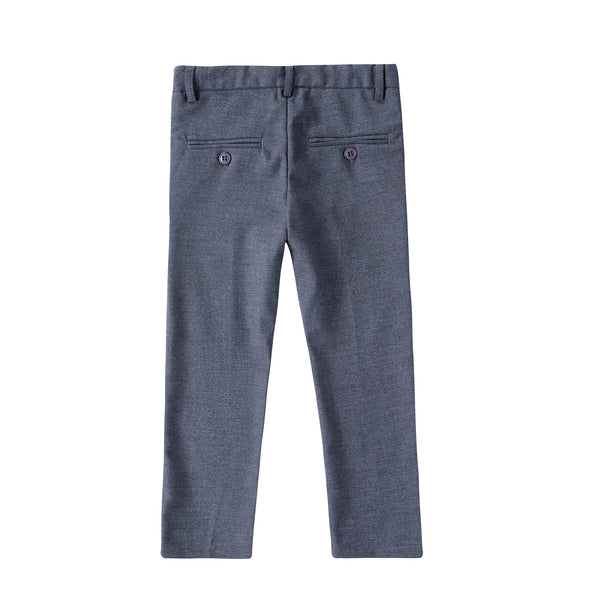 Boys four- Button Detail Pants in Grey