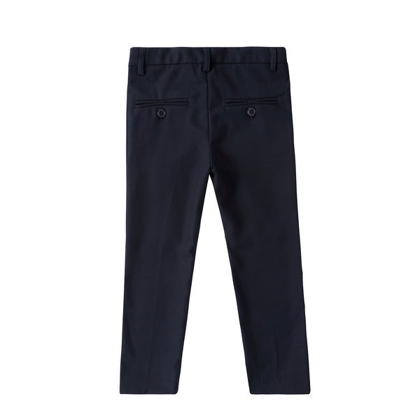 Boys four- Button Detail Pants in Navy