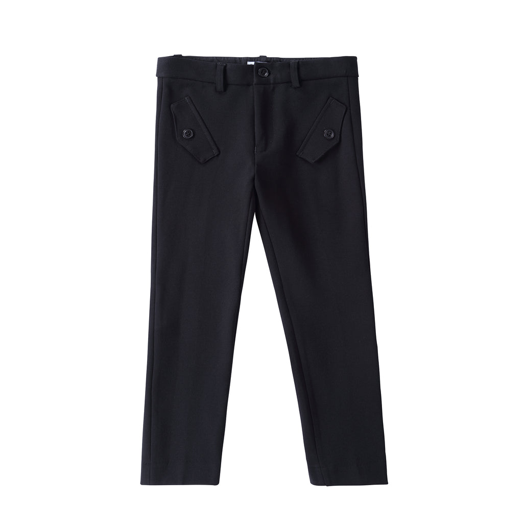 Boys Black Pants with Pocket Detail