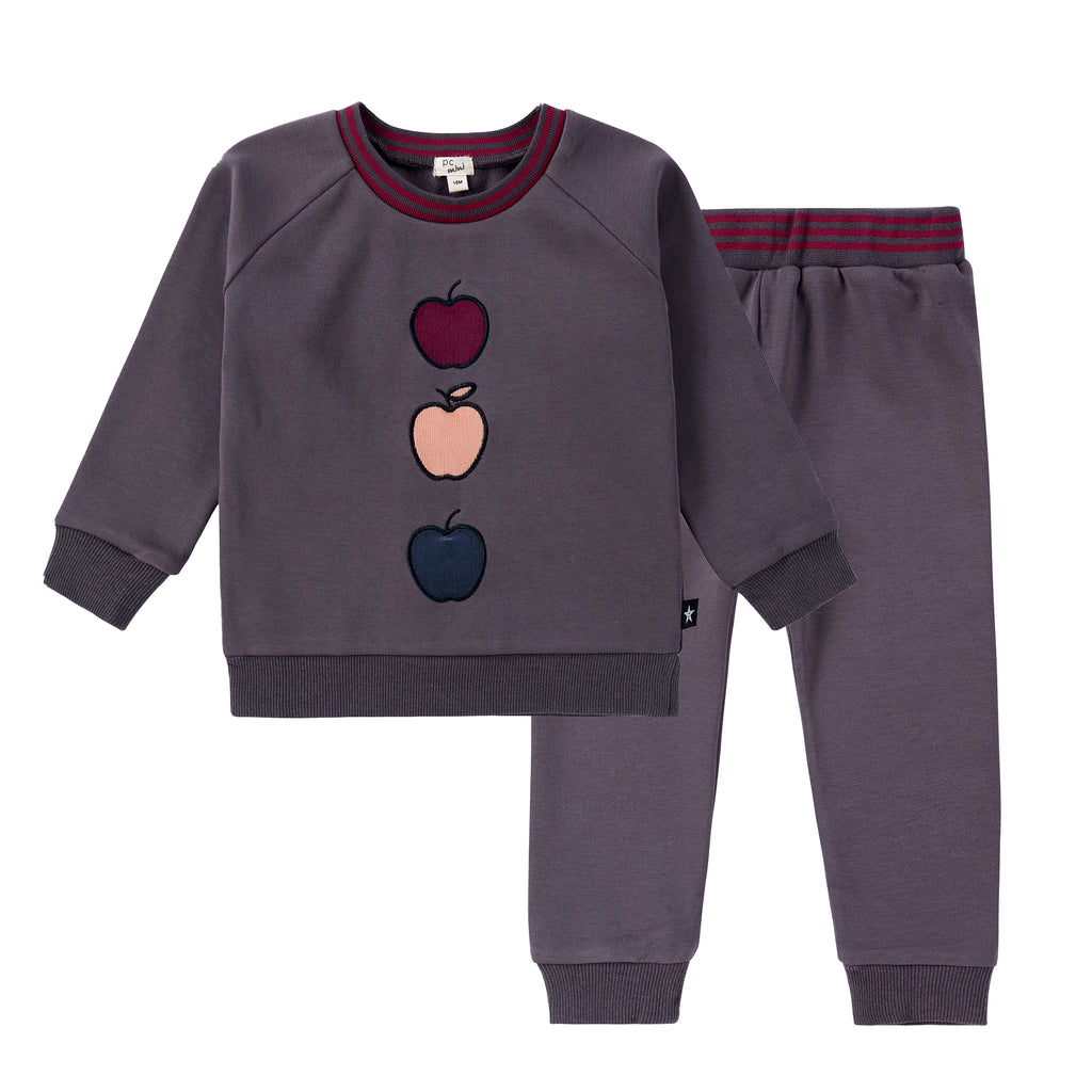 Baby 3-Apple Sweatshirt Set