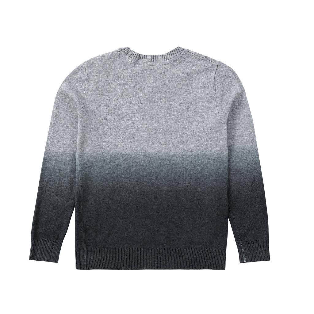 Boys Grey Ombre Knit Sweater