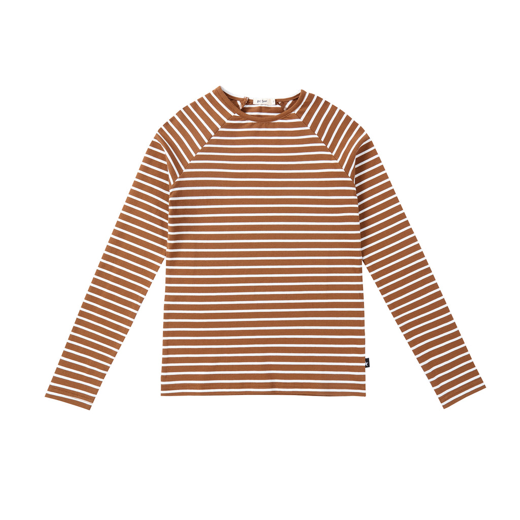 Rust and Ivory Striped Tshirt